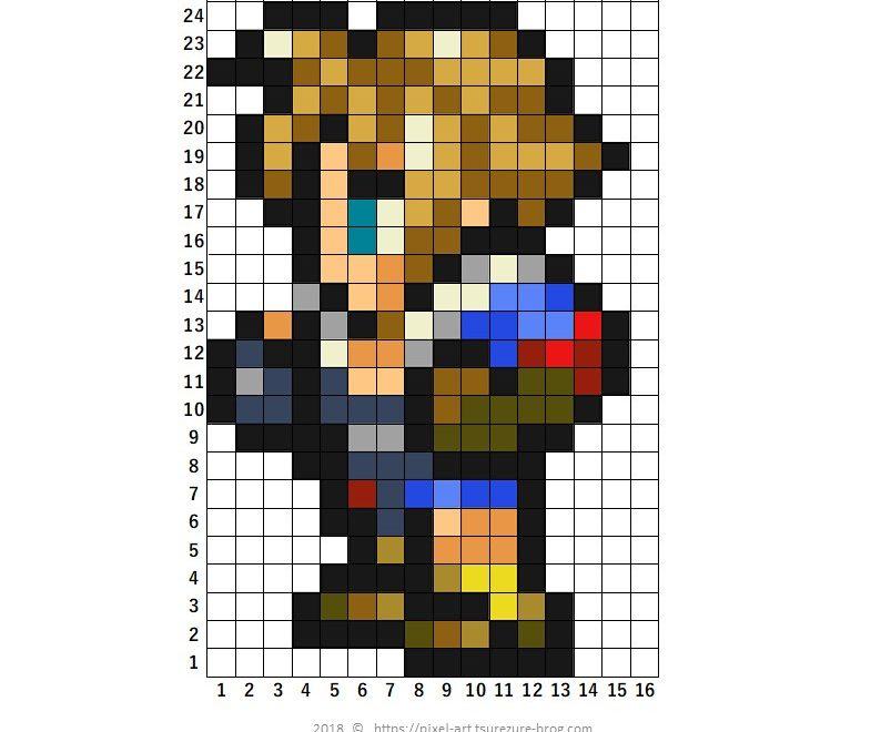ファイナルファンタジー ドット絵 Pixel art FF