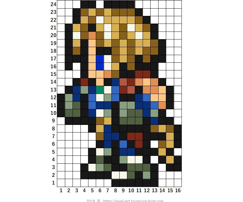 ファイナルファンタジー ドット絵 FF pixel art
