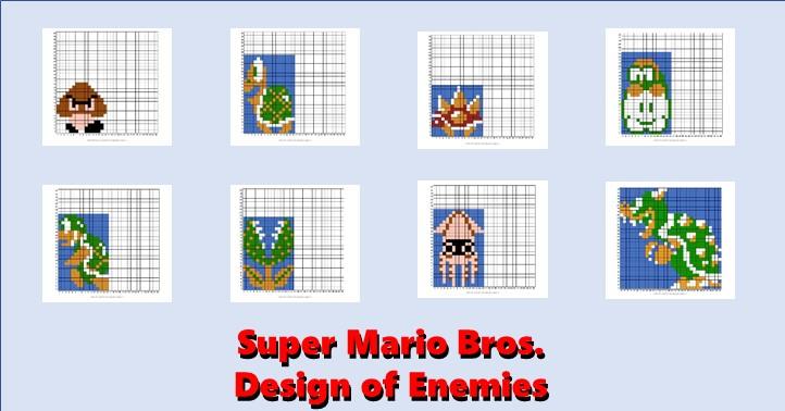 Mario Smb Enemies Master Of Gaming Pixel Art
