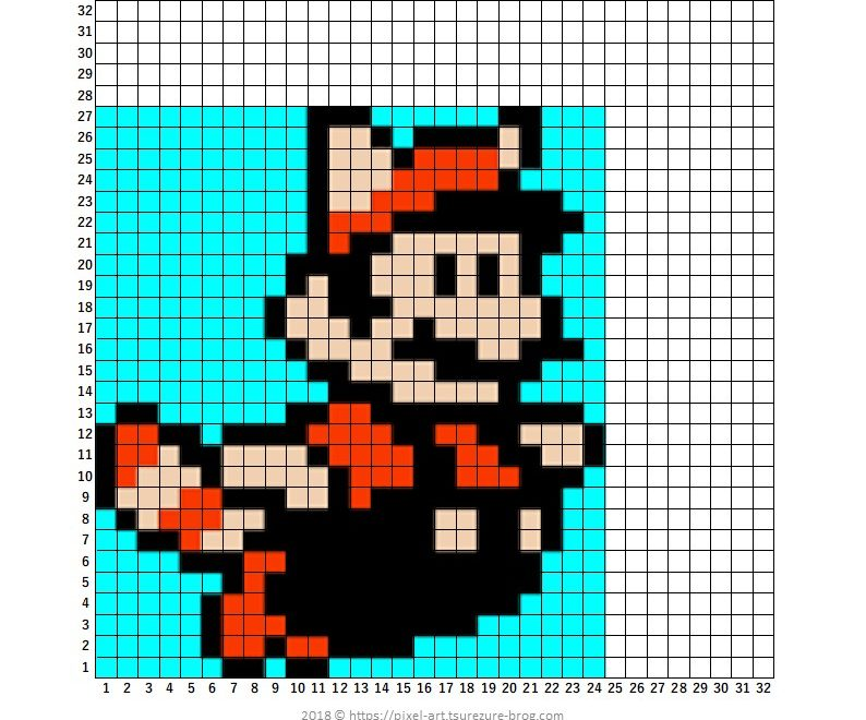 Mariosmb3 Raccoon Mario Master Of Gaming Pixel Art