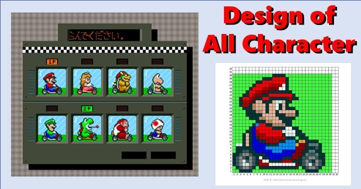 Mario Mario Kart All Characters Master Of Gaming Pixel Art